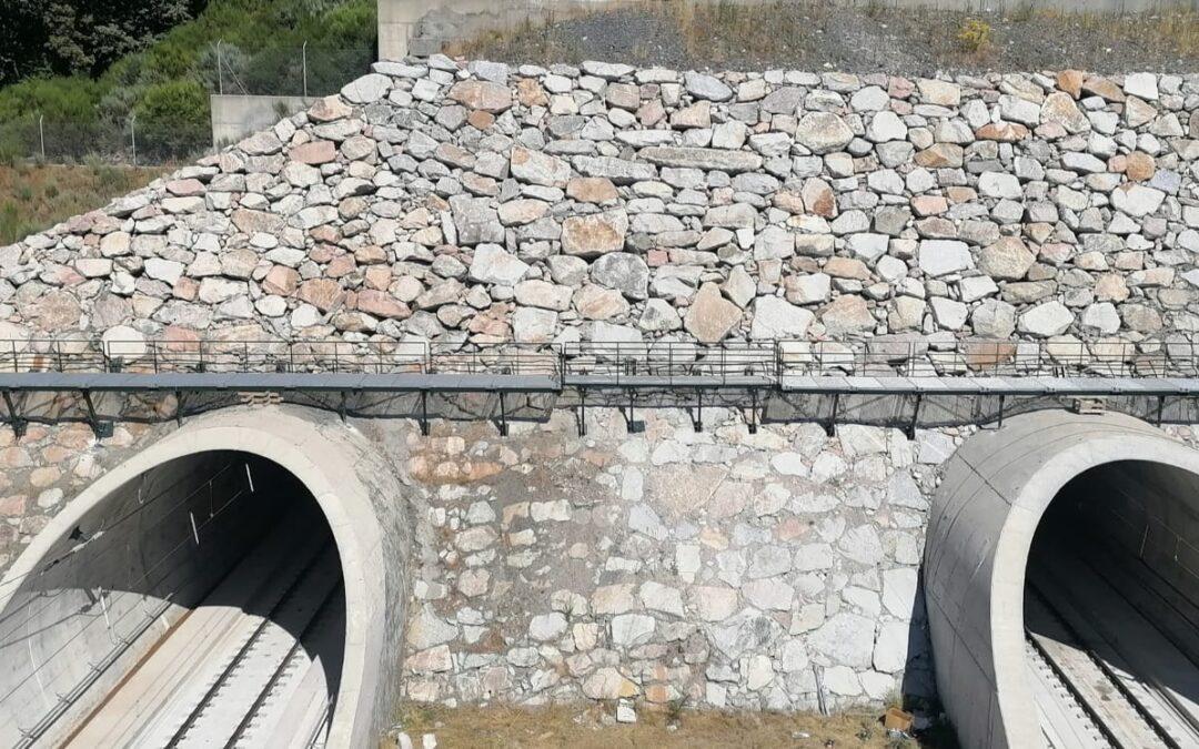 Pasarela sobre túnel a Gudiña para AVE